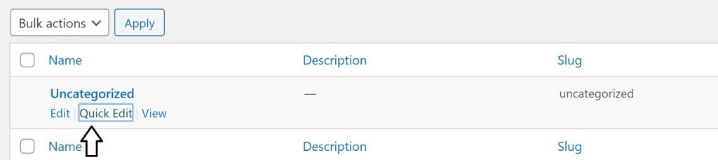 Wordpress-Settings-Categories