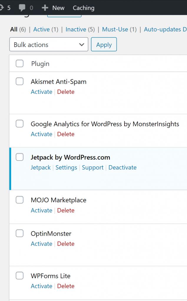 Wordpress-Settings-plugins
